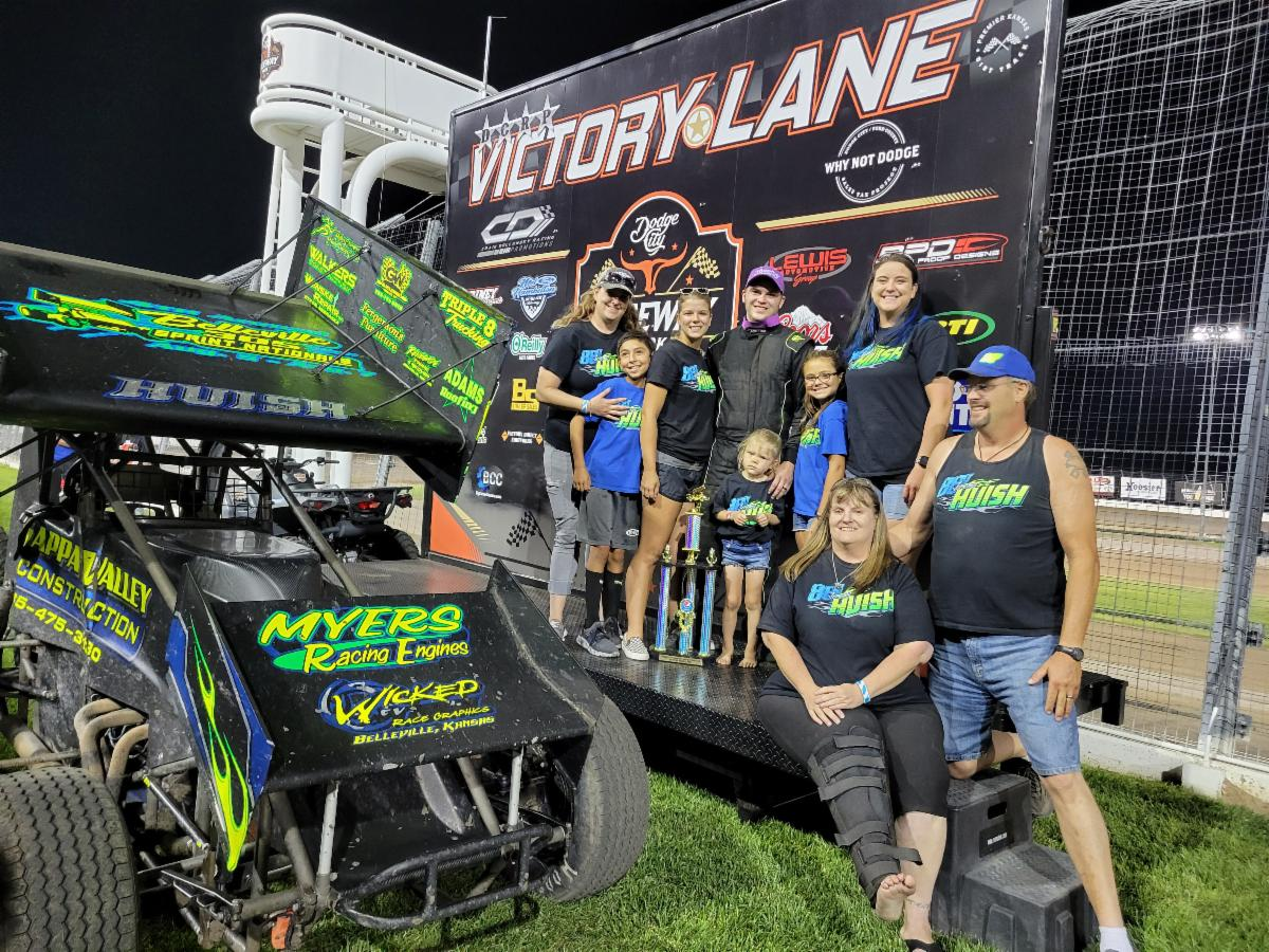 Huish, Sproul, Berry, Rogers and Sellard Earn Wins at Dodge City Raceway Park